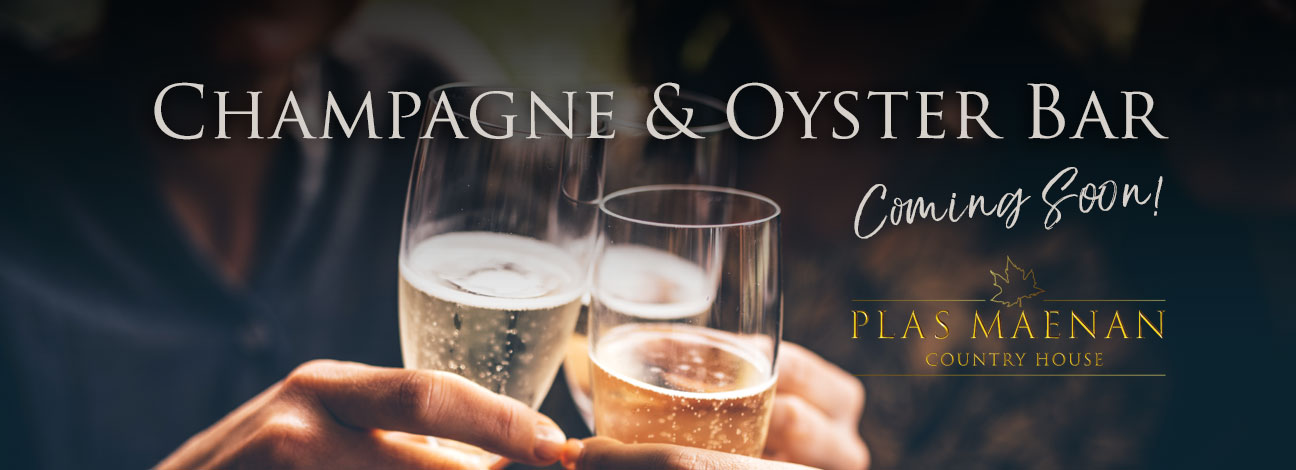 Champagne and Oyster Bar coming soon to Plas Maenan Country House