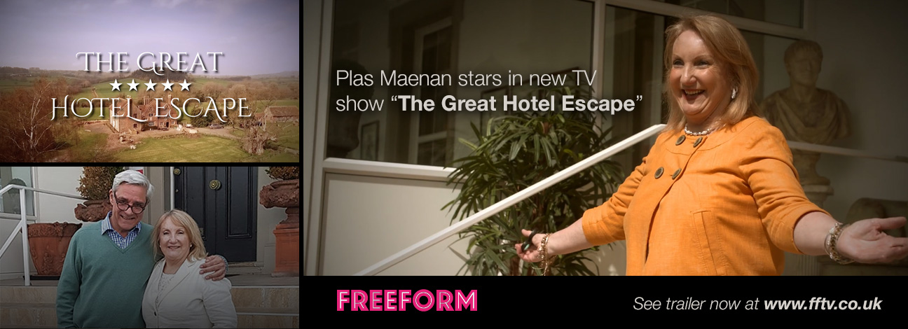 Plas Maenan stars in new TV programme The Great Hotel Escape - see trailer now at www.fftv.co.uk