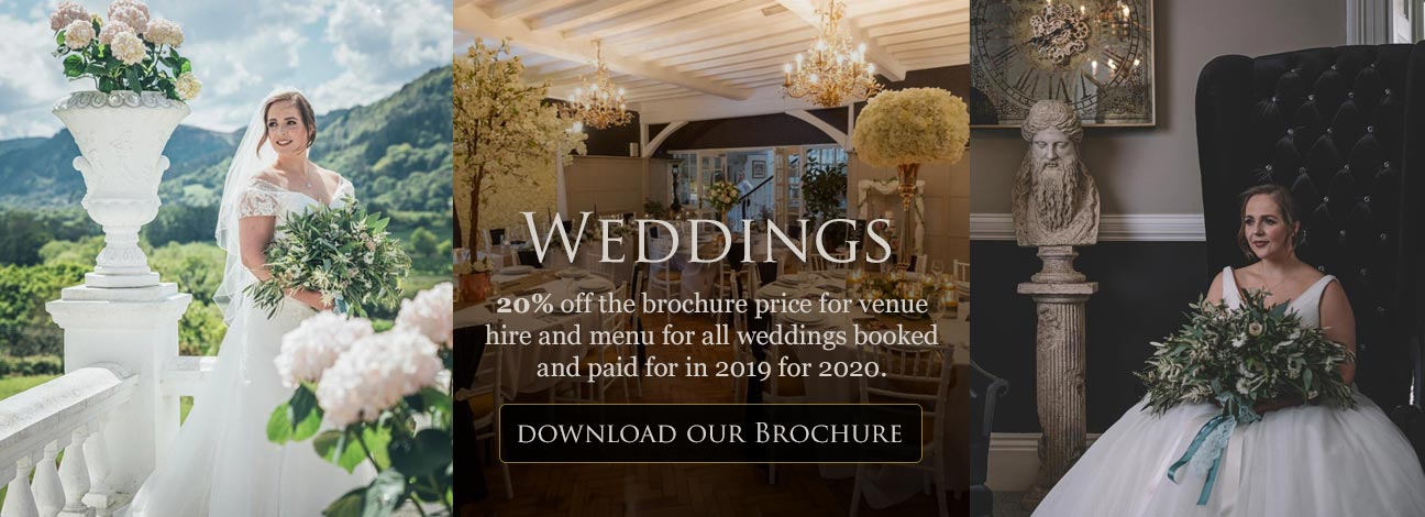 Download our Weddings Brochure - 20% off the brochure price for all weddings booked in 2019 for 2020
